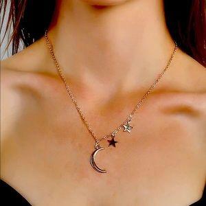 • Lori • Moon + Star Necklace